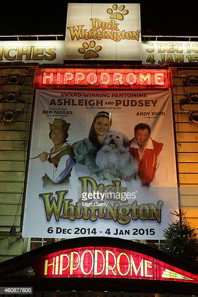 Bristol Hippodrome's exterior is seen as it host's its production of Dick Whittington on December 23, 2014 in Bristol, England. Many theatres in the...