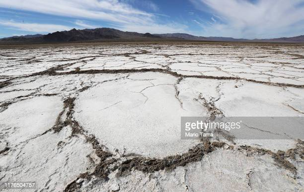 Bristol Lake a dry lake bed stands in the Mojave desert on September 22 2019 in Amboy California California's Fourth Climate Change Assessment found...