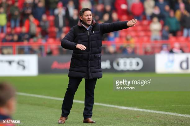 Bristol manager Lee Johnson during the Sky Bet Championship match between Bristol City and Sunderland at Ashton Gate on February 10 2018 in Bristol...