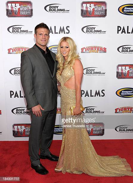 Bristol Marunde and Aubrey Marunde arrive at the 2011 Fighters Only World Mixed Martial Arts Awards on November 30 2011 in Las Vegas Nevada
