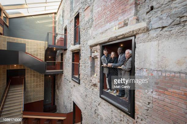 People gather outside the Bristol Old Vic at the opening of the twoyear multimillion pound redevelopment of the oldest working theatre in the...