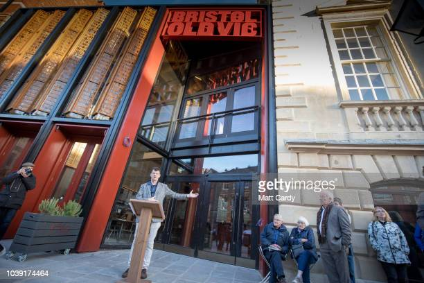 Bristol Old Vic artistic director Tom Morris speaks at the public opening of the twoyear multimillion pound redevelopment of the Bristol Old Vic the...