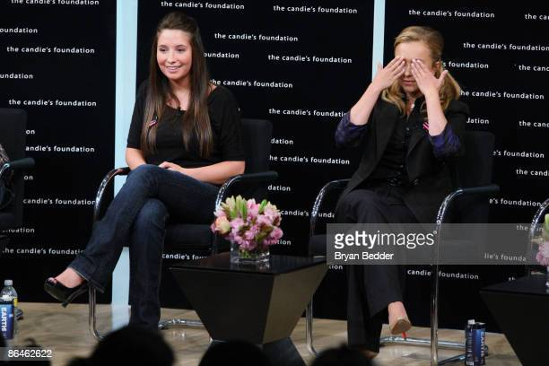 Bristol Palin and actress Hayden Panettiere attend the Candie�s Foundation town hall meeting on teen pregnancy prevention at TheTimesCenter on May 6...