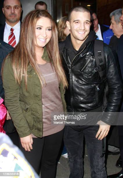 Bristol Palin and Mark Ballas are seen on the Streets of Manhattan on November 24 2010 in New York City