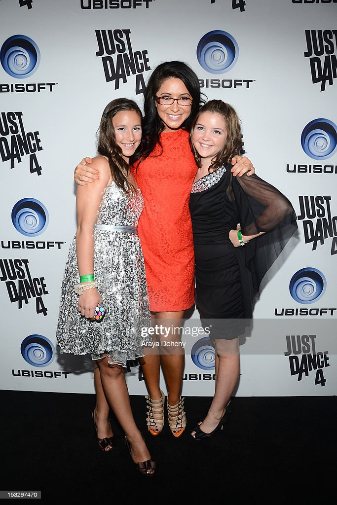 Bristol Palin(C) and Piper Palin(R) attend The Launch Of Just Dance 4 presented by Ubisoft at Lexington Social House on October 2, 2012 in Hollywood, California.