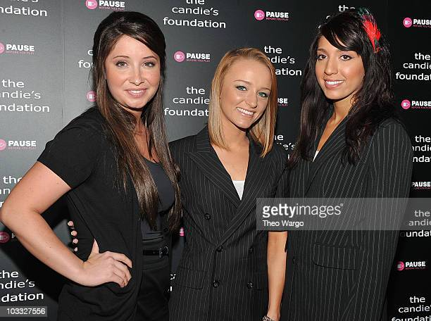 Bristol Palin Maci Bookout and Farrah Abraham attend ' The Harsh Truth Teen Moms Tell All' Town Hall Meeting sposored by The Candie's Foundation at...