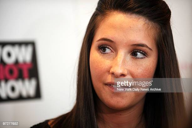 Bristol Palin unwed teenagemother and daughter of failed presidential candidate Alaska Governor Sarah Palin joins panel as Teen Ambassador to The...