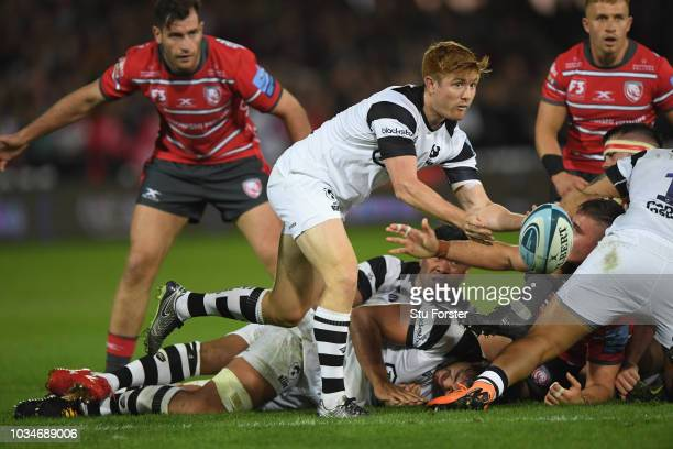 Bristol player Nic Stirzaker in action during the Gallagher Premiership Rugby match between Gloucester Rugby and Bristol Bears at Kingsholm Stadium...
