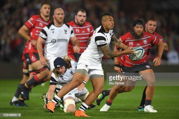 Bristol player Tusi Pisi in action during the Gallagher Premiership Rugby match between Gloucester Rugby and Bristol Bears at Kingsholm Stadium on...