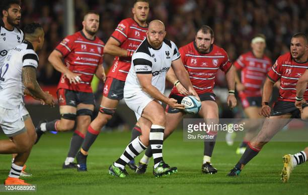 Bristol player Yann Thomas in action during the Gallagher Premiership Rugby match between Gloucester Rugby and Bristol Bears at Kingsholm Stadium on...