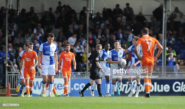 CELE Bristol Rovers' Billy Bodin celebrates scoring his side's first goal during the Sky Bet League One match between Bristol Rovers and Blackpool at...