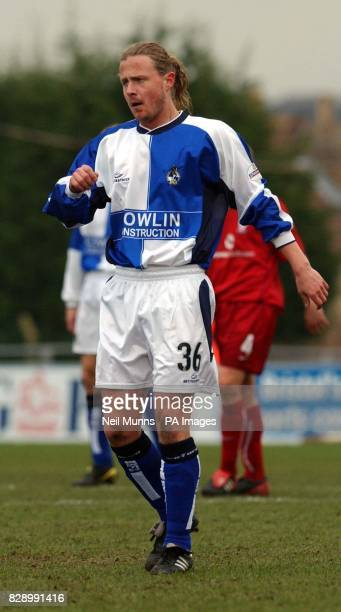 Bristol Rovers' Bo Henriksen in action during the Nationwide Division Three match at The Memorial Ground Bristol THIS PICTURE CAN ONLY BE USED WITHIN...