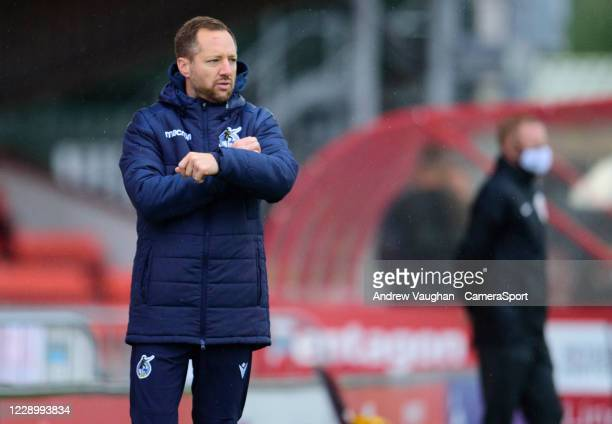 Bristol Rovers manager Ben Garner during the Sky Bet League One match between Lincoln City and Bristol Rovers at LNER Stadium on October 10, 2020 in...