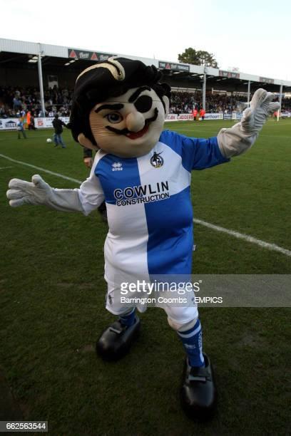 Bristol Rovers' mascot Captain Gas