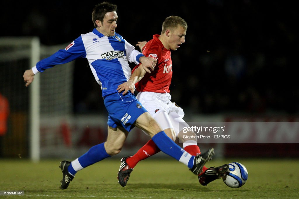 Bristol Rovers' Paul Heffernan and Charlton Athletic's Chris Solly... News  Photo - Getty Images
