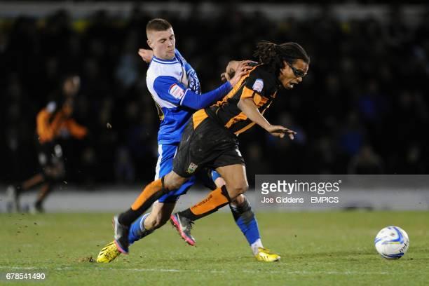 Bristol Rovers' Ryan Brunt fouls Barnet's Edgar Davids
