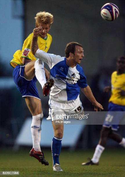 a38b3e1f5e3 Bristol Rovers' Sean Rigg and Millwall's Marcus Bignot in action during the  CocaCola Football League