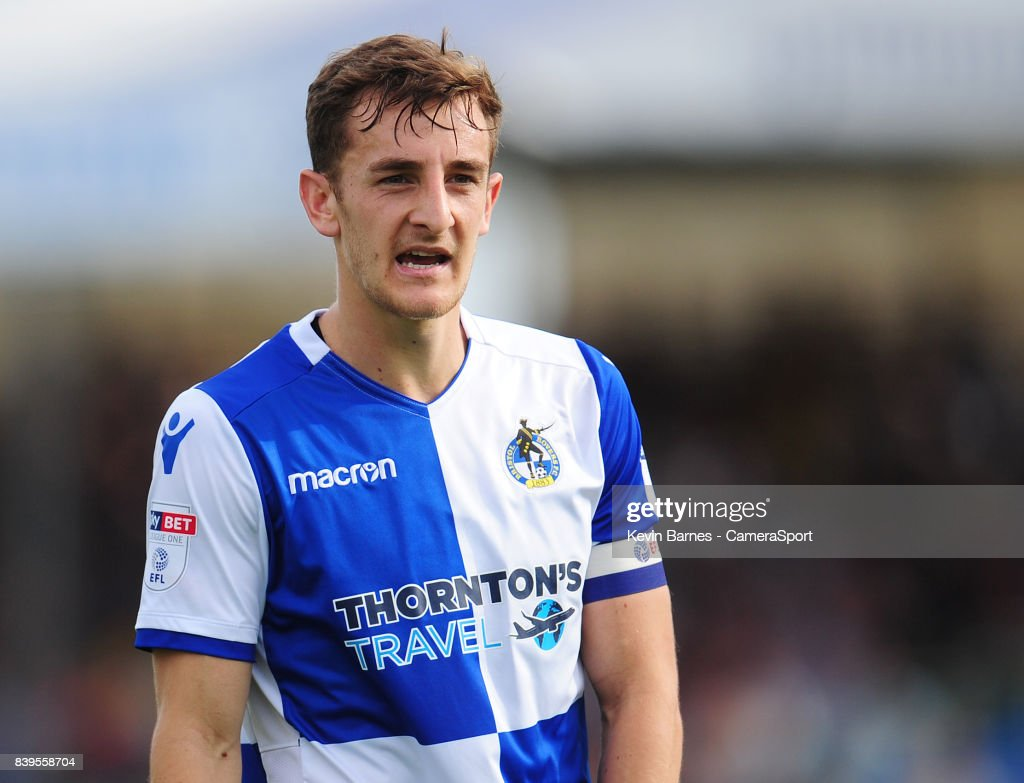 Bristol Rovers' Tom Lockyer during the Sky Bet League One match between Bristol Rovers and Fleetwood Town at Memorial Stadium on August 26, 2017 in Bristol, England.