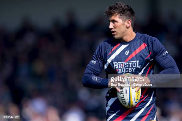 Bristol Rugby's Gavin Henson during the pre match warm up during the Aviva Premiership match between Exeter Chiefs and Bristol Rugby at Sandy Park on...