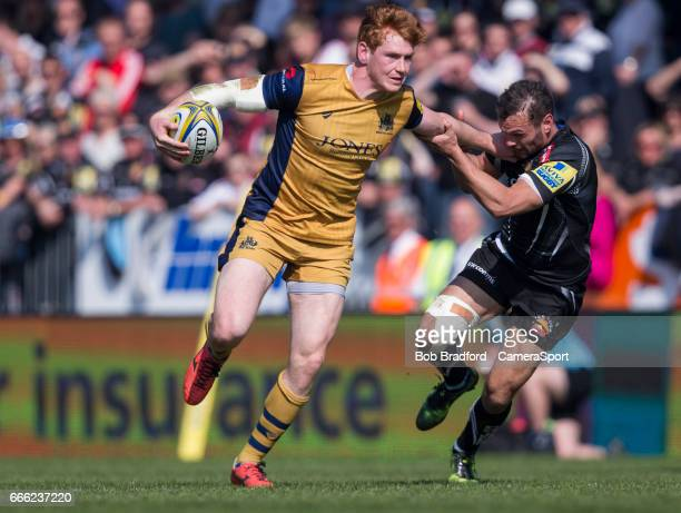 Bristol Rugby's Jack Tovey in action during todays match during the Aviva Premiership match between Exeter Chiefs and Bristol Rugby at Sandy Park on...