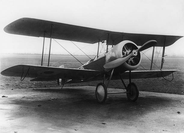 A Bristol Scout D used by the R.F.C. , circa 1916.