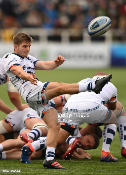 Bristol scrum half Harry Randall in action during the Gallagher Premiership Rugby match between Newcastle Falcons and Bristol Bears at Kingston Park...