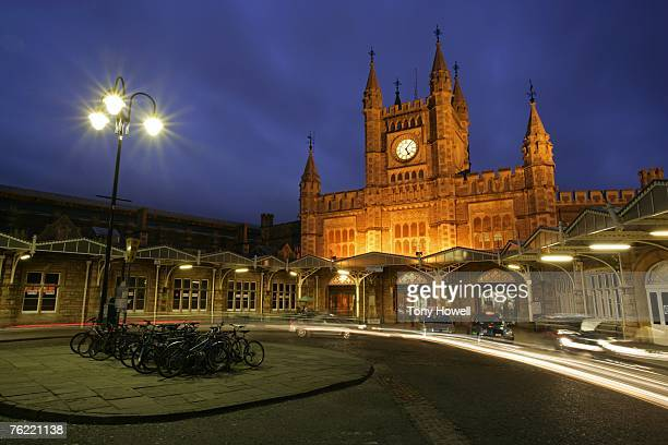 Bristol Temple Meads Railway Station, night, Bristol, England