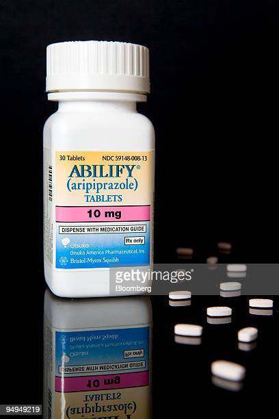 BristolMyers Squibb's Abilify is arranged for a photograph at New London Pharmacy in New York US on Tuesday April 28 2009 BristolMyers Squibb Co's...