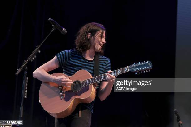 Brit Award winner James Michael Bay, English singer songwriter and guitarist performs live on stage during the Victorious Festival at the seaside...