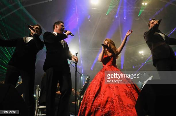 Brit award winners Blake and soprano Joanne Forest entertain thousands of spectators attending the annual Castle Howard Proms Spectacular concert...