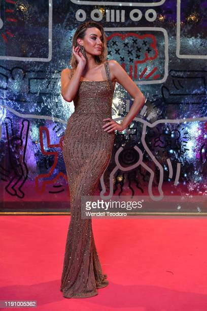 Brit Davis attends the NGV Gala 2019 at the National Gallery of Victoria on November 30 2019 in Melbourne Australia