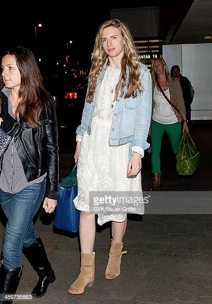 Brit Marling is seen at Los Angeles International Airport on March 18 2013 in Los Angeles California