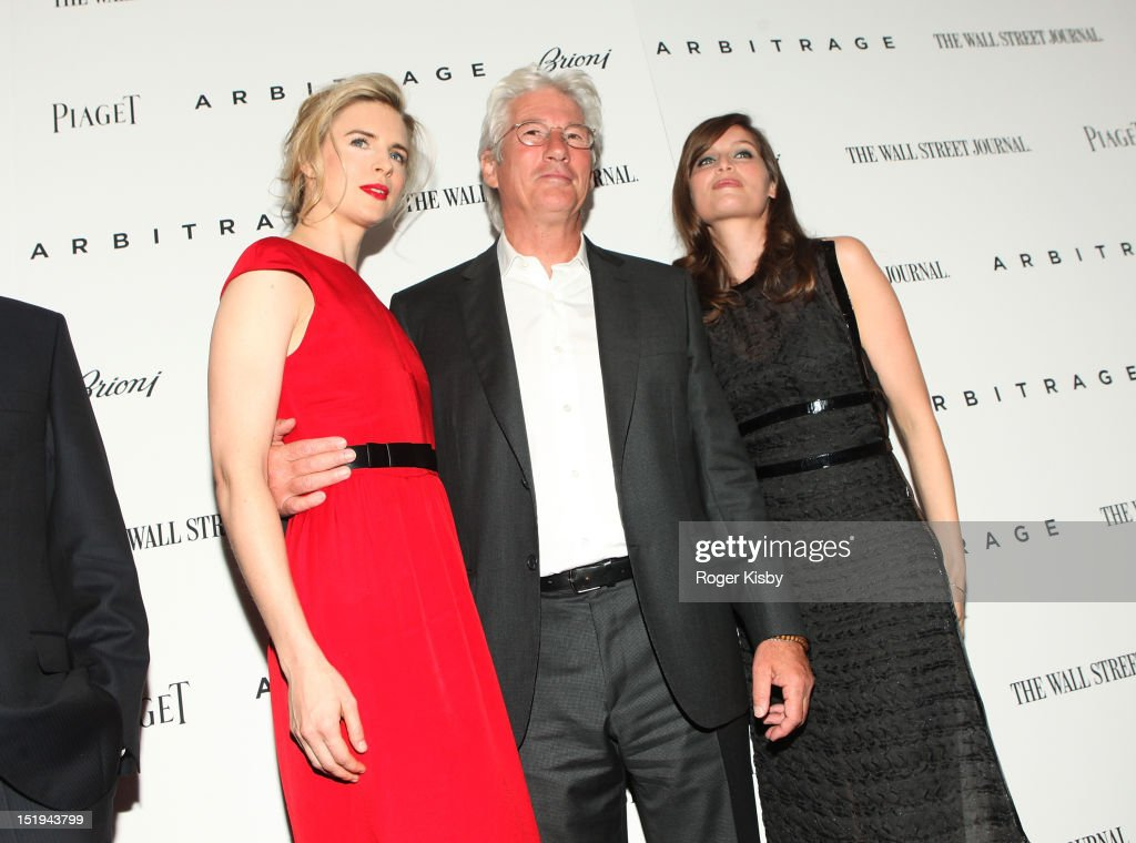 Brit Marling, Richard Gere and Laetitia Casta attend the 'Arbitrage' New York Premiere at Walter Reade Theater on September 12, 2012 in New York City.