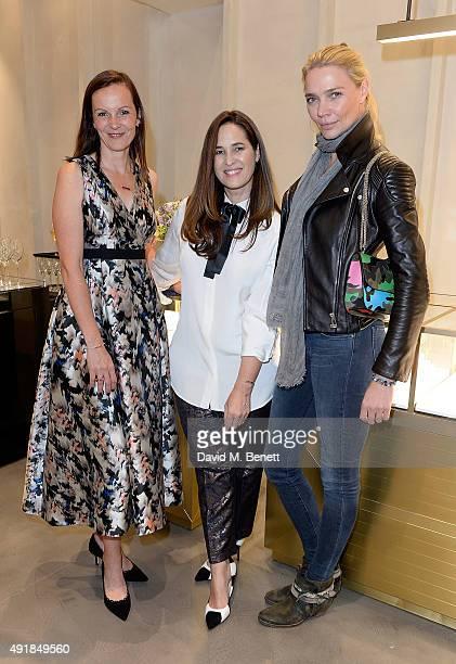 Brita Fernandez Schmidt Monica Vinader and Jodie Kidd attend the Monica Vinader and Brita Fernandez Schmidt launch of the #SheInspiresMe friendship...