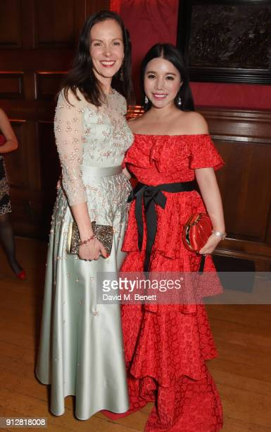 Brita FernandezSchmidt and Wendy Yu attend Wendy Yu's Chinese New Year Celebration at Kensington Palace on January 31 2018 in London United Kingdom