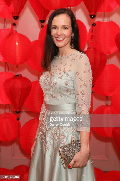 Brita Schmidt attends the Wendy Yu's Chinese New Year celebration at Kensington Palace on January 31 2018 in London England