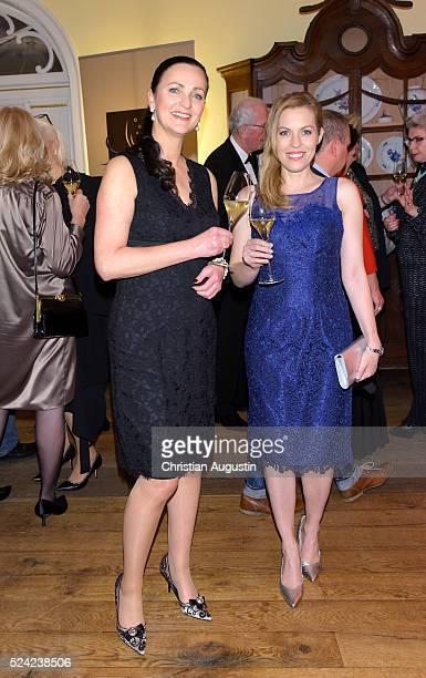 Brita Segger and Jule Goelsdorf attend the 'Champagnepreis fuer Lebensfreude' at Hotel Louis C Jacob on April 25 2016 in Hamburg Germany