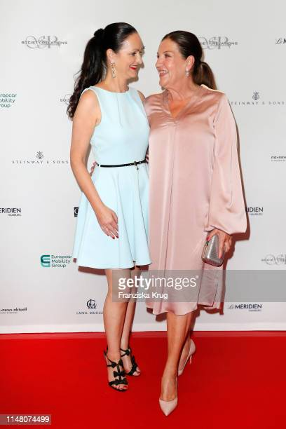 Brita Segger and Katy Karrenbauer during the Society Relations Ladies Lunch at Le Meridien on June 4 2019 in Hamburg Germany