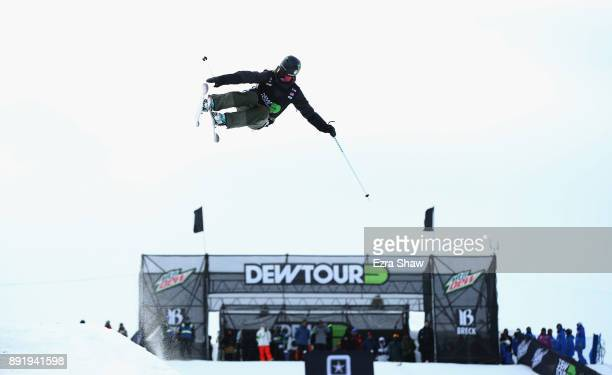 Brita Sigourney competes in the women's Ski Superpipe qualification during Day 1 of the Dew Tour on December 13 2017 in Breckenridge Colorado