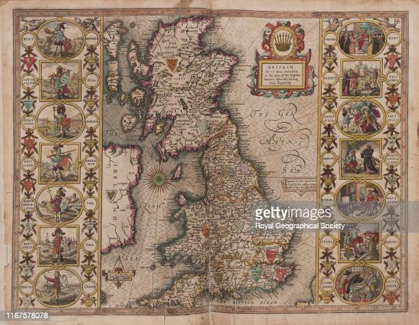 Britain as it was divided in the time of the English Saxons especially during their Heptarchy From A Prospect of the most Famous Parts of the World...