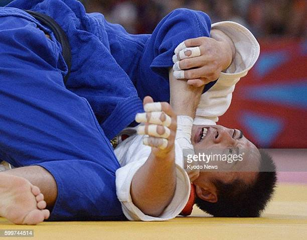 LONDON Britain Czech Lukas Krpalek takes on Japan's Takamasa Anai during the round of 16 in the men's judo 100kilogram category at the 2012 London...