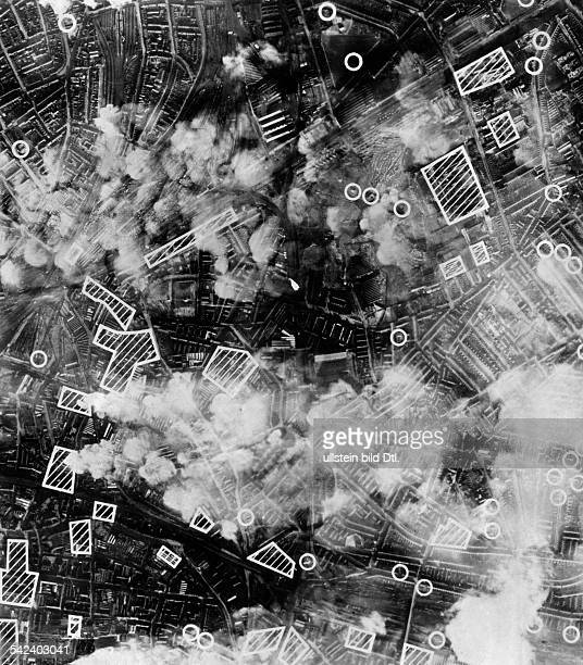 2WW Britain during / Air War Battle of Britain Bomb raid against BirminghamAerial view picture shows damaged plants and bomb craters December 1940