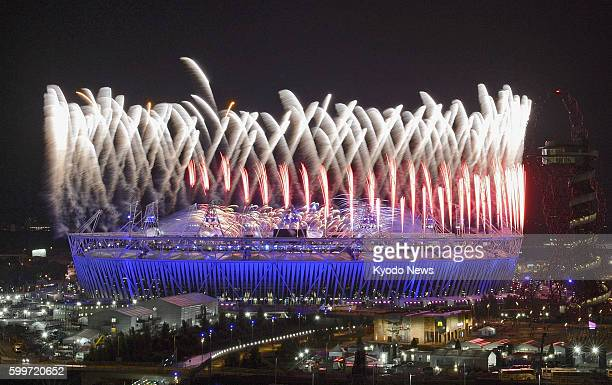 LONDON Britain Fireworks are set off during the opening ceremony of the London Olympics at the Olympic Stadium in London on July 27 2012