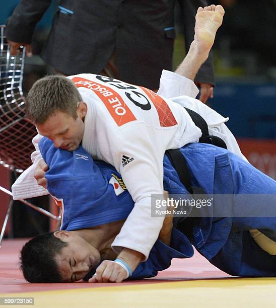 LONDON Britain Germany's Ole Bischof takes on Japan's Takahiro Nakai during the quarterfinals in the men's judo 81kilogram category at the 2012...