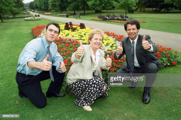 Britain in Bloom regional finalists, pictured in Brueton Park, Solihull, are Chris Gregory and Carole Walker , 8th September 1999.