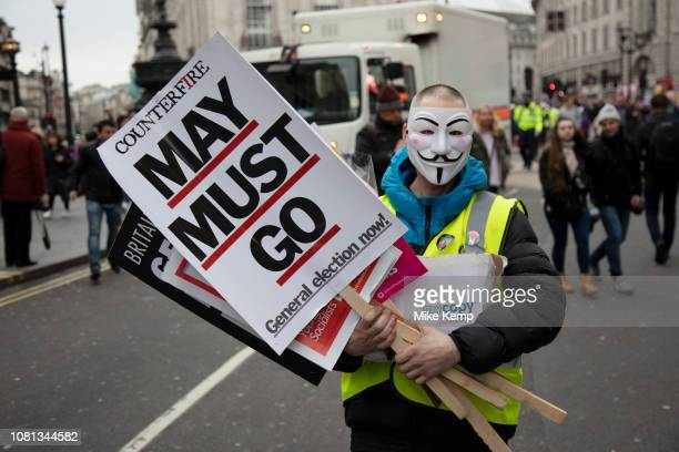 Britain is Broken - General Election Now demonstration against Tory cuts and austerity on 12th January 2019 in London, United Kingdom. Irrespective...