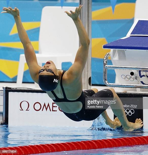 LONDON Britain Japan's Aya Terakawa starts in the women's 100meter backstroke semifinals at the 2012 London Olympics at the Aquatics Centre on July...