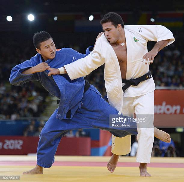 LONDON Britain Japan's Takahiro Nakai takes on Brazil's Leandro Guilheiro during the consolation match in the men's judo 81kilogram category at the...