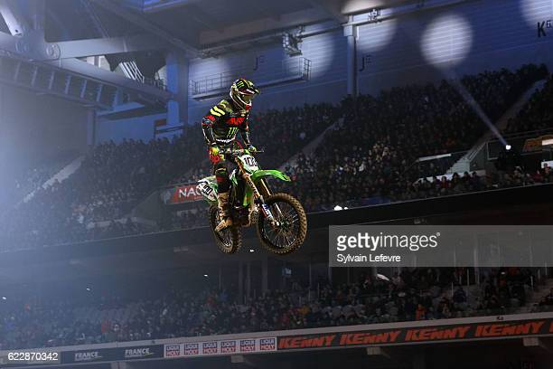 d8f300f2 Britain Kawasaki rider Tommy Searle during the Supercross of Paris Lille  SX1 run on November 12