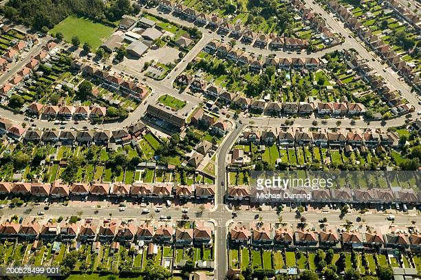 britain, london aerial shot of suburbs - district stock pictures, royalty-free photos & images